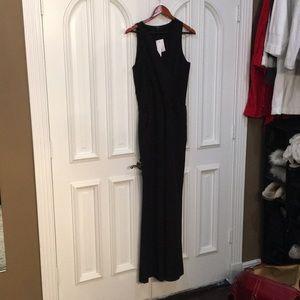 Jet black dressy jumpsuit